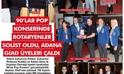 FASHION VIP - 90'LAR POP KONSERİNDE ROTARYENLER SOLİST OLDU ADANAGİAD ÜYELERİ ÇALDI