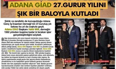 FASHION VIP - ADANA GİAD 27 GURUR YILINI ŞIK BİR BALOYLA KUTLADI